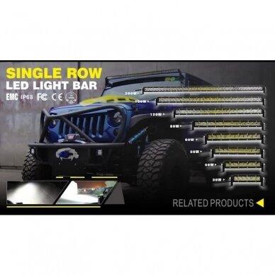MINI LED BAR žibintas 90W 12-24V (E9 10R) SPOT 2