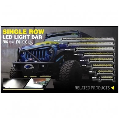 MINI LED BAR žibintas 100W 12-24V COMBO 54cm 3