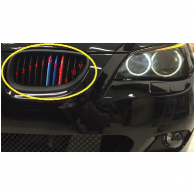 3D BMW 5 serijos E60 M-Tech grotelių apdaila 04-10 3