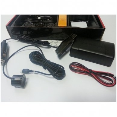 """4-ių juodų daviklių parkavimosi sistema su laidiniu LED ekranu """"EAGLE"""" 3"""