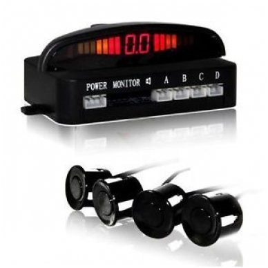 """4-ių juodų daviklių parkavimosi sistema su laidiniu LED ekranu """"EAGLE"""" 4"""
