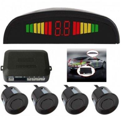 """4-ių juodų daviklių parkavimosi sistema su laidiniu LED ekranu """"EAGLE"""""""