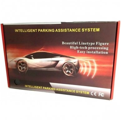 """4-ių juodų jutiklių parkavimosi sistema """"EAGLE"""" su belaidžiu LED ekranu 2"""
