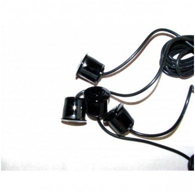 """4-ių juodų jutiklių parkavimosi sistema """"EAGLE"""" su belaidžiu LED ekranu 6"""