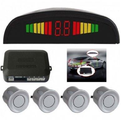 """4-ių pilkų daviklių parkavimosi sistema su laidiniu LED ekranu """"EAGLE"""""""