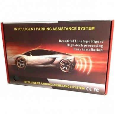 """4-ių pilkų jutiklių parkavimosi sistema """"EAGLE"""" su belaidžiu LED ekranu 2"""