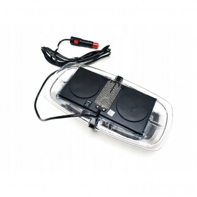 4D Oranžinis įspėjamasis galingas LED švyturėlis su magnetiniu padu 30W 12V-24V 2