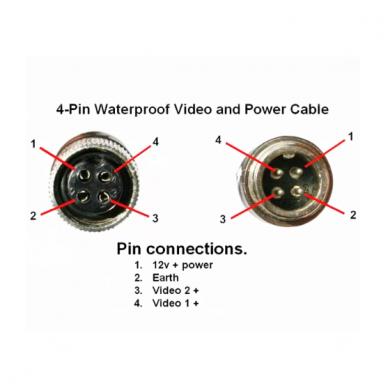4PIN spec. technikos kamerų laidas 10 metrų 4