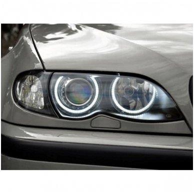 LED 72 SMD Angel Eyes balti šviesos žiedai BMW E36 / E38 / E39 / E46 su lešiu iki facelift / E46 cuope 99-03 m 4