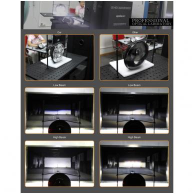 """7"""" LED HIGH/LOW + DRL priekinis sertifikuotas žibintas 10"""