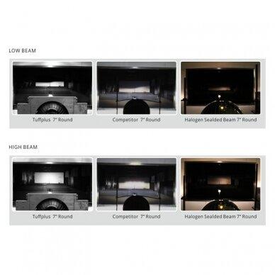 """7"""" LED HIGH/LOW + DRL priekinis sertifikuotas žibintas 11"""