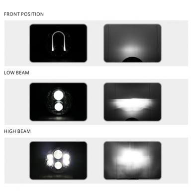 """7"""" LED HIGH/LOW + gabaritas (A02) priekinis sertifikuotas žibintas 17"""
