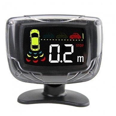 """8-ių juodų daviklių parkavimosi sistema priekiui ir galui su laidiniu LCD ekranu """"EAGLE"""" 3"""