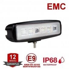 Sertifikuotas atbulinės pavaros LED žibintas AR00 E9 22162, 18W, 9-32V, 6 LED