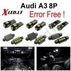 Audi A3 LED salono apšvietimo lempučių komplektas