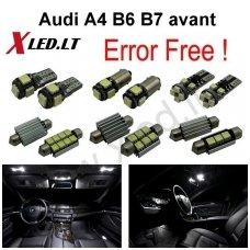 Audi A4 B6 B7 avant LED salono apšvietimo lempučių komplektas