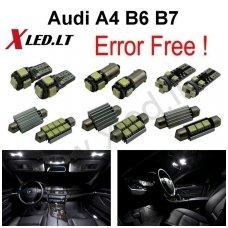 Audi A4 B6 B7 sedanas LED salono apšvietimo lempučių komplektas