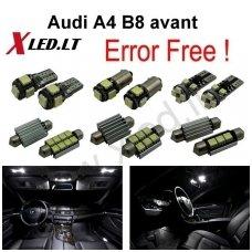 Audi A4 B8 avant LED salono apšvietimo lempučių komplektas