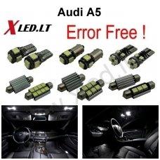 Audi A5 LED salono apšvietimo lempučių komplektas