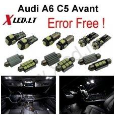Audi A6 C5 Avant LED salono apšvietimo lempučių komplektas