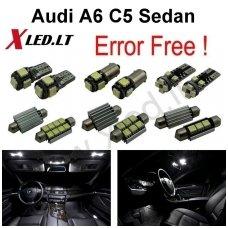 Audi A6 C5 Sedan LED salono apšvietimo lempučių komplektas