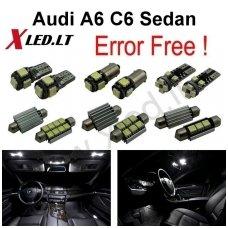 Audi A6 C6 Sedan LED salono apšvietimo lempučių komplektas