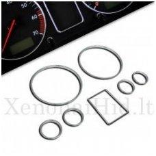 AUDI CHROME A3, A4, A6, B5, C5 spidometro žiedai