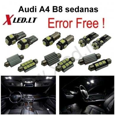 Audi A4 B8 sedanas LED salono apšvietimo lempučių komplektas