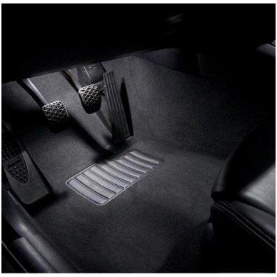 Audi A4 B8 sedanas LED salono apšvietimo lempučių komplektas 9
