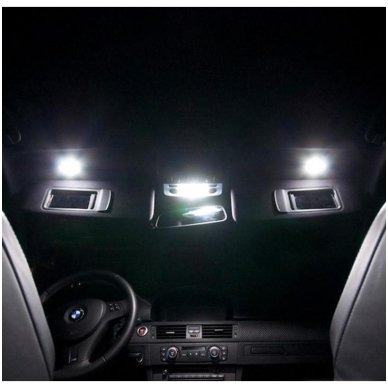 Audi A4 B8 sedanas LED salono apšvietimo lempučių komplektas 10