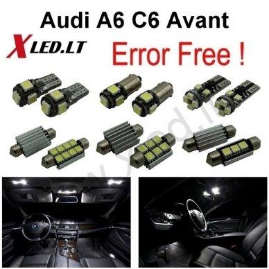 Audi A6 C6 Avant LED salono apšvietimo lempučių komplektas