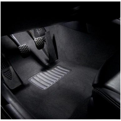 Audi A6 C6 Avant LED salono apšvietimo lempučių komplektas 9