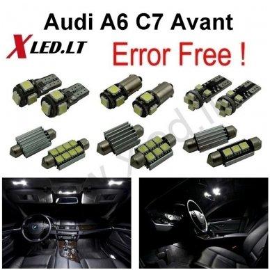 Audi A6 C7 Avant LED salono apšvietimo lempučių komplektas