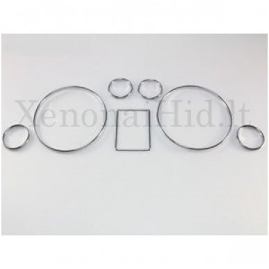 AUDI CHROME A3, A4, A6, B5, C5 spidometro žiedai 3