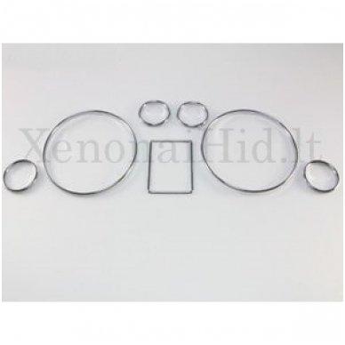 AUDI CHROME A3, A4, A6, B5, C5 spidometro žiedai 5