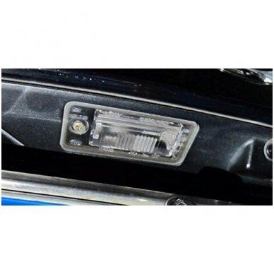 AUDI galinio vaizdo kamera numerio apšvietimas su atstumo rėmeliu 9