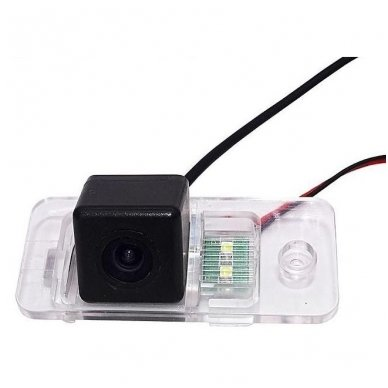 AUDI galinio vaizdo kamera numerio apšvietimas su atstumo rėmeliu 4