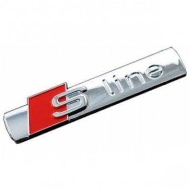 Audi S-line chrome pilka klijuojama emblema