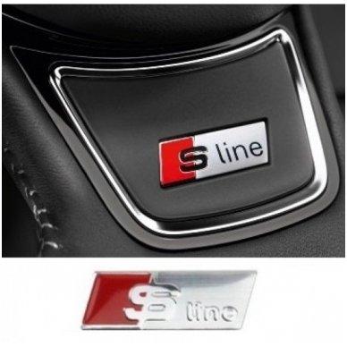 Audi S-Line vairo, ratų, spidometro raudonas lipdukas