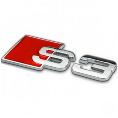 Audi S3 klijuojama emblema