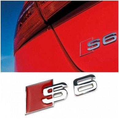 Audi S6 klijuojama emblema 2