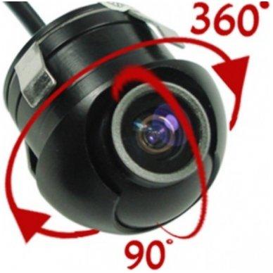 Automobilio galinio vaizdo kamera - įleidžiama reguliuojama su atstumo rėmeliu 2