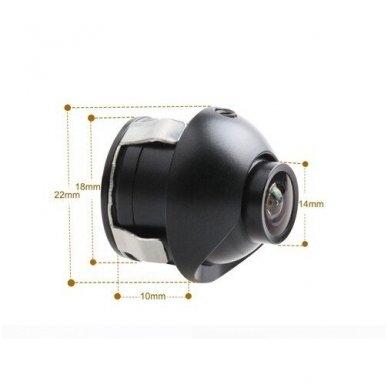 Automobilio galinio vaizdo kamera - įleidžiama reguliuojama su atstumo rėmeliu 10