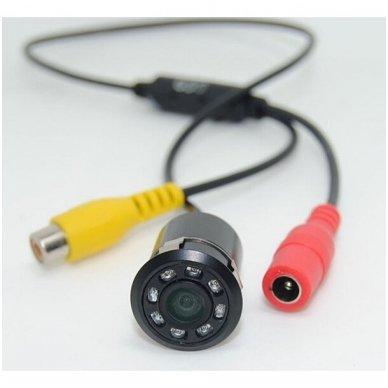 Automobilio galinio vaizdo kamera įleidžiama tiesi - su atstumo rėmeliu ir IR LED apšvietimu 5