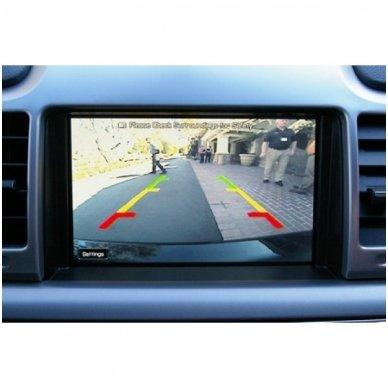 Automobilio galinio vaizdo kamera tvirtinama išorėje - su atstumo rėmeliu ir LED apšvietimu 5