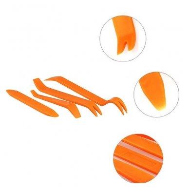 Automobilio plastikinių dalių ardymo 4 įrankių komplektas 4