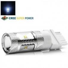 Balta LED P27W / 3156 - 9w, 6 CREE LED dviejų kontaktų amerikietiškų automobilių lemputė