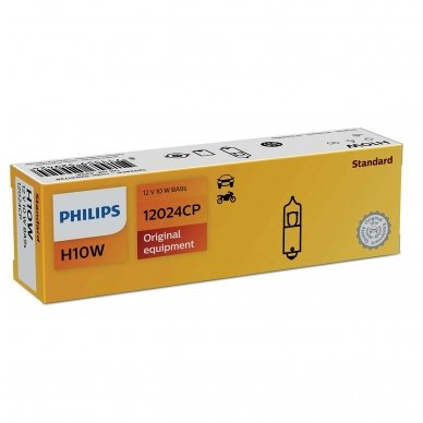 BA9S/H10W PHILIPS 12V 10W halogeninė lemputė 12024CP 3