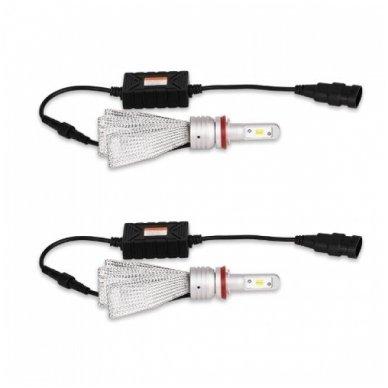 Balta / geltona H8 / H9 / H11 Philips ZES LED sistema 12V-24V, 30W, 4000LM į priekinius žibintus 7