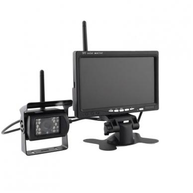 Belaidė 7 colių monitoriaus ir galinio vaizdo kameros sistema 12V/24V 2